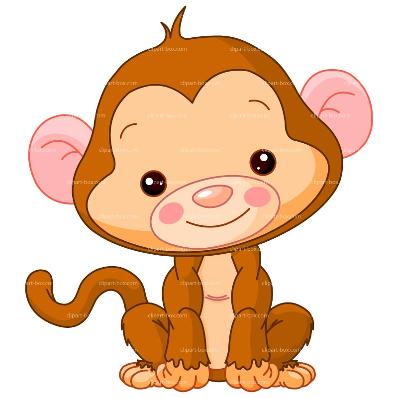 Clip Art Baby Monkey Clipart