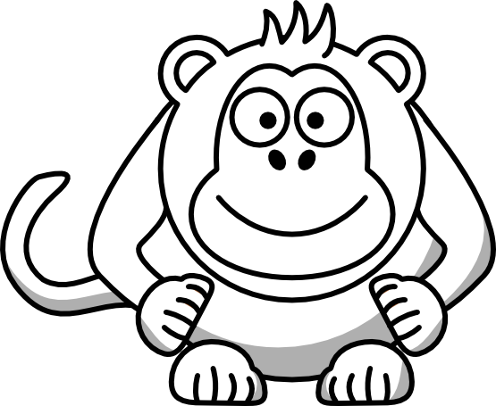 monkey clipart black and white clipart panda free clipart images rh clipartpanda com monkey face clip art black and white monkey face clip art black and white