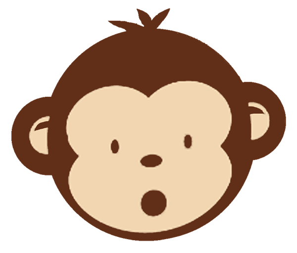 Baby monkey face clip art clipart panda free clipart for Sock monkey face template