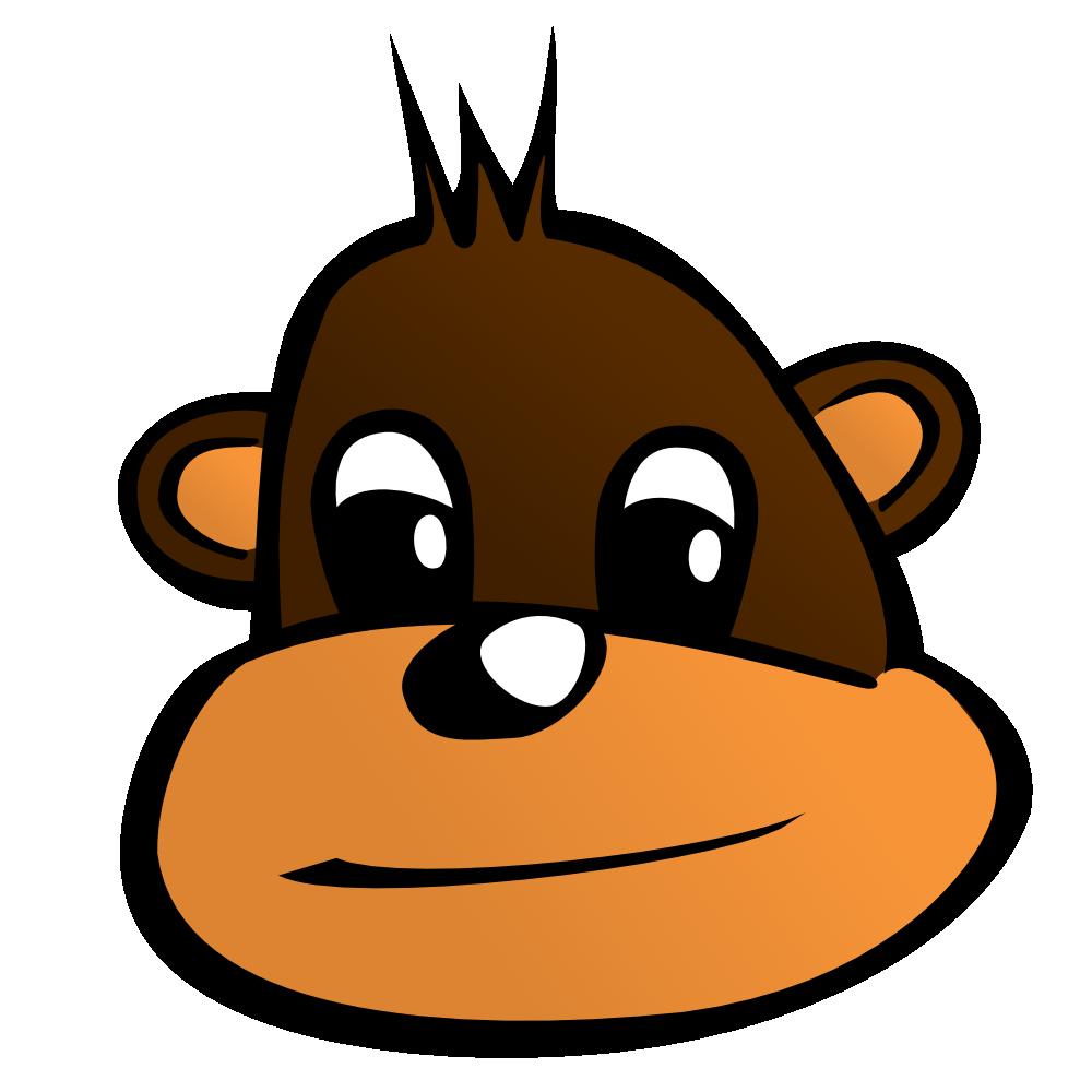 monkey%20face%20clip%20art%20black%20and%20white
