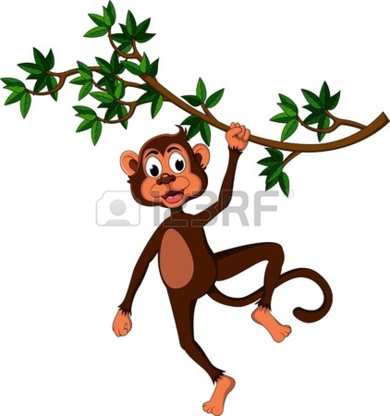 clipart monkey hanging from tree - photo #36