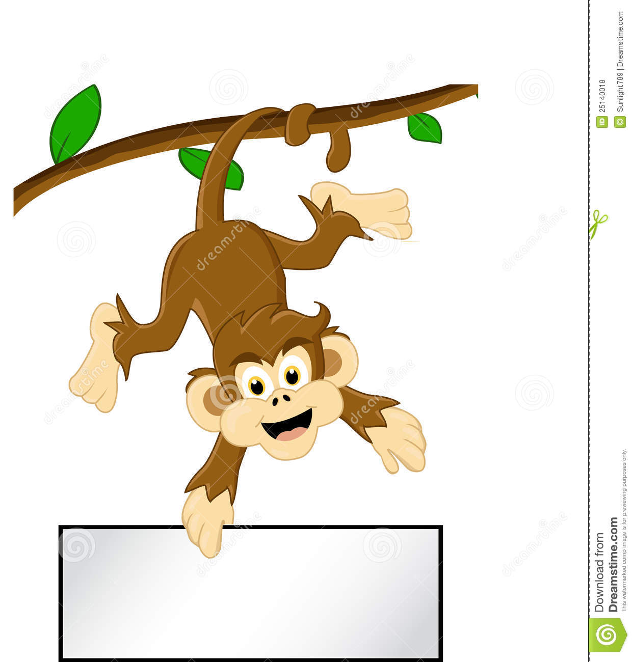 Monkey In A Tree Cartoon Clipart Panda Free Clipart Images