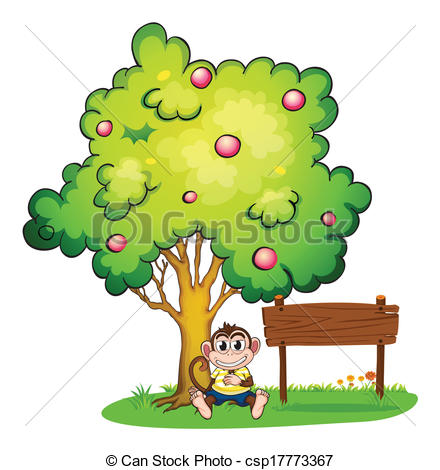 Monkey Hanging On Tree Branch Royalty Free Cliparts, Vectors, And Stock  Illustration. Image 16496625.