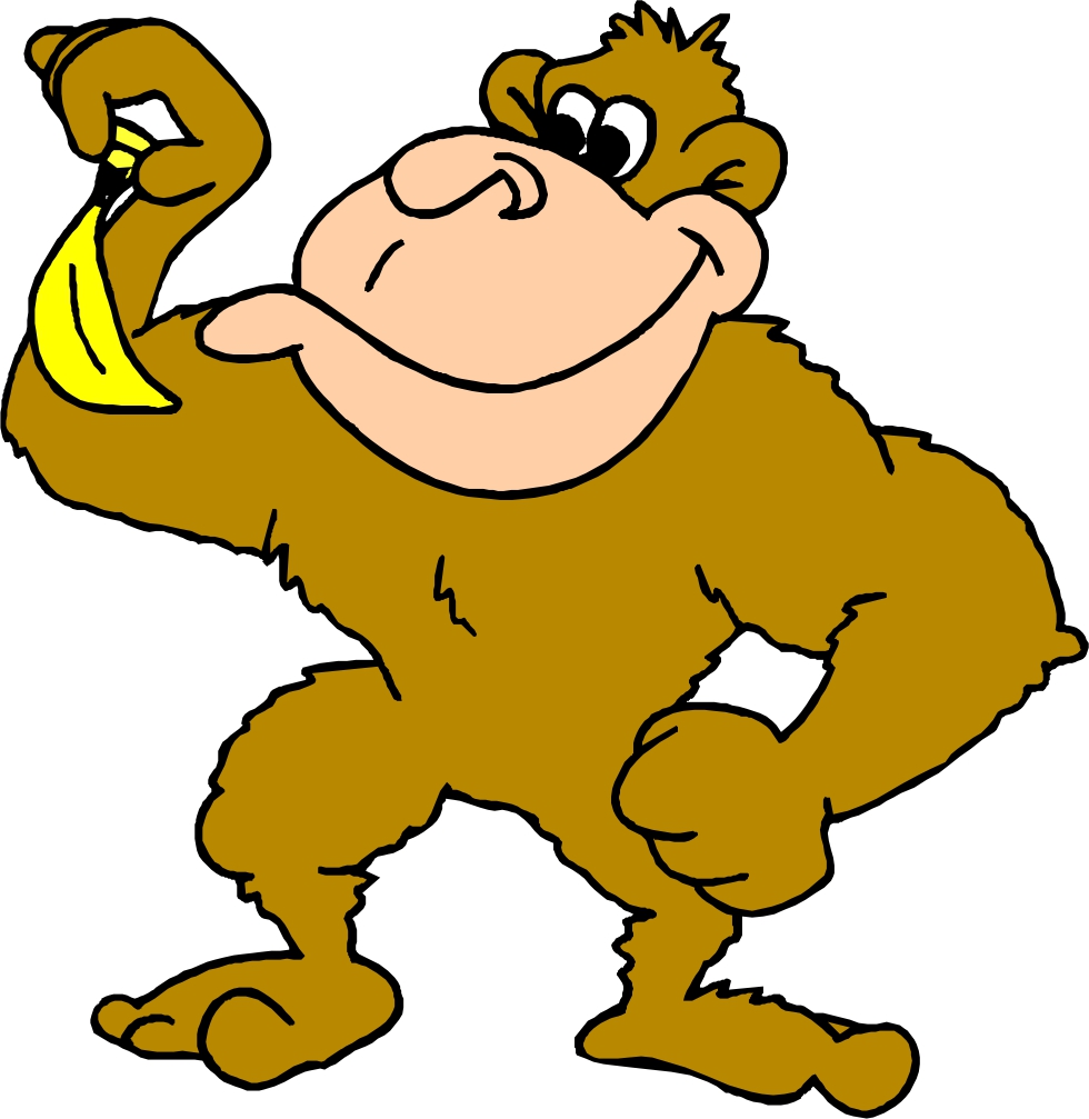 Monkey With Banana Clip Art | Clipart Panda - Free Clipart Images