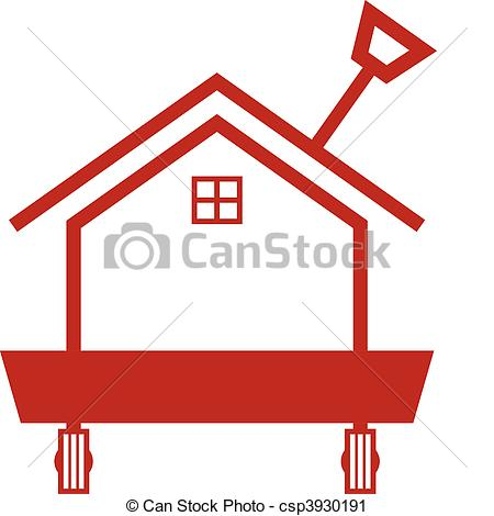 red house Vector Clip Art