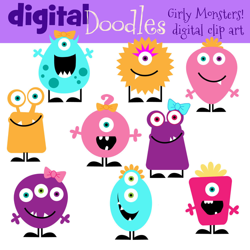 girly monster clip art clipart panda free clipart images rh clipartpanda com free monster clipart for kids free monster clipart downloads