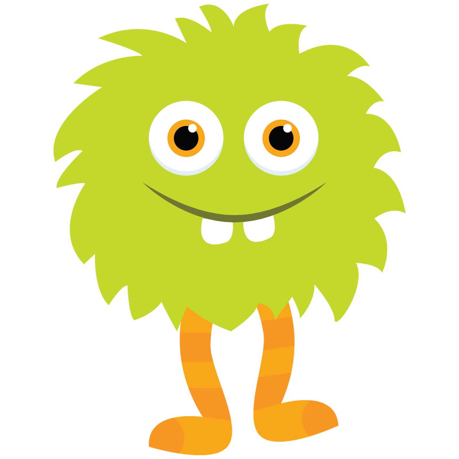 Happy Monster Illustration Monsters Clip Art Free...