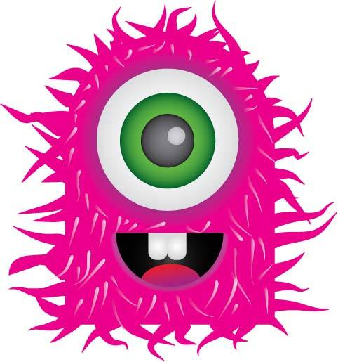 Monster Clipart Black And White | Clipart Panda - Free Clipart Images
