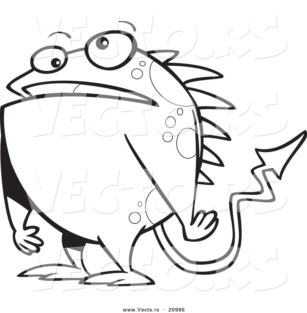 monster outline coloring pages - photo#14
