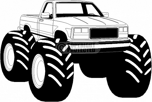 All Black Monster Truck Monster Truck Clip Art