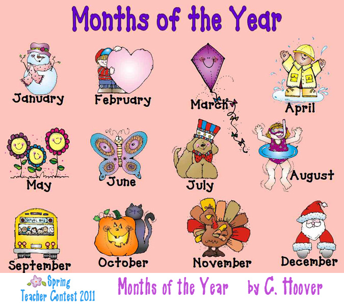 Free Clip Art Calendar Months : Months of the year clipart panda free