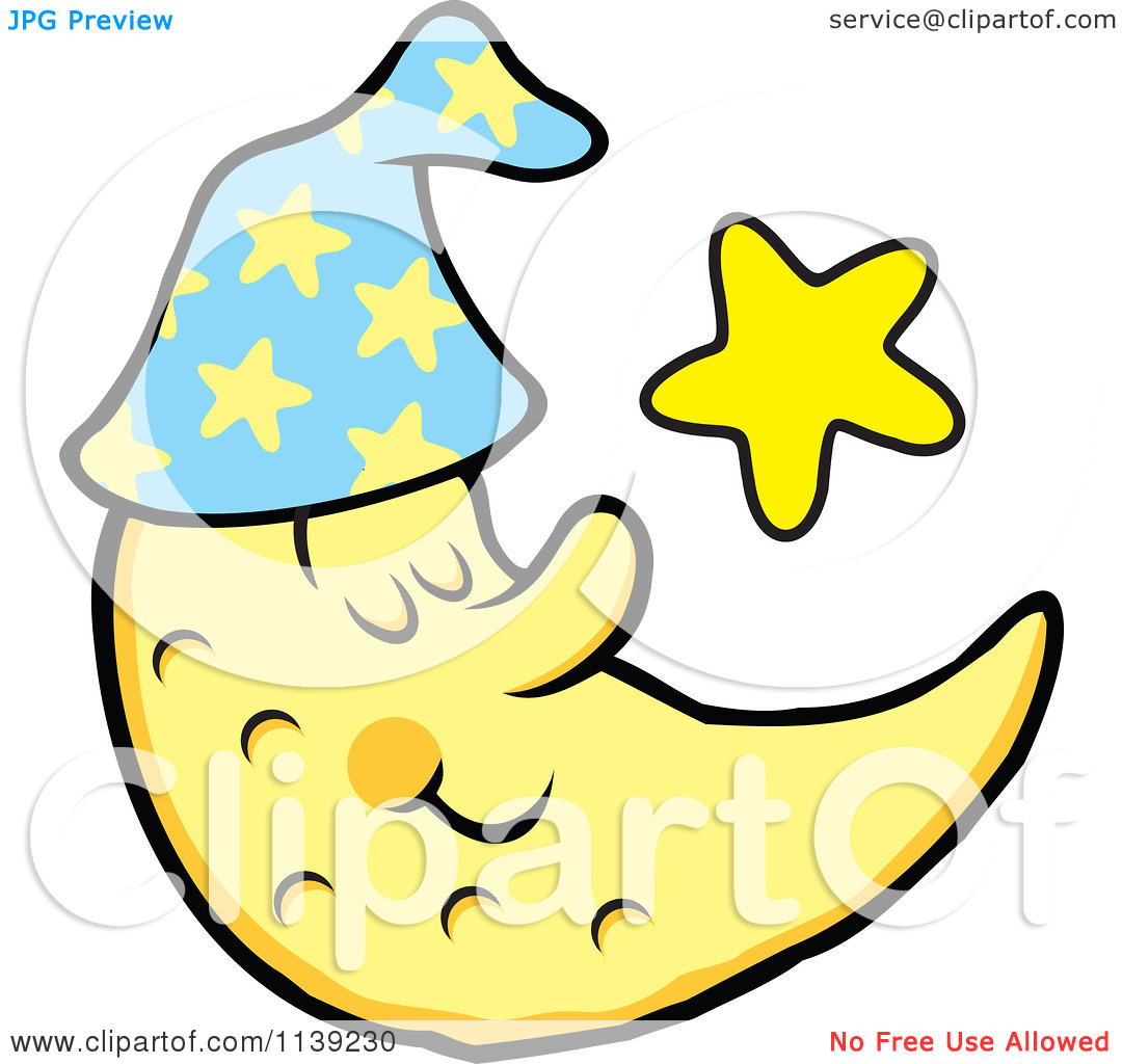 free clip art moon and stars - photo #32