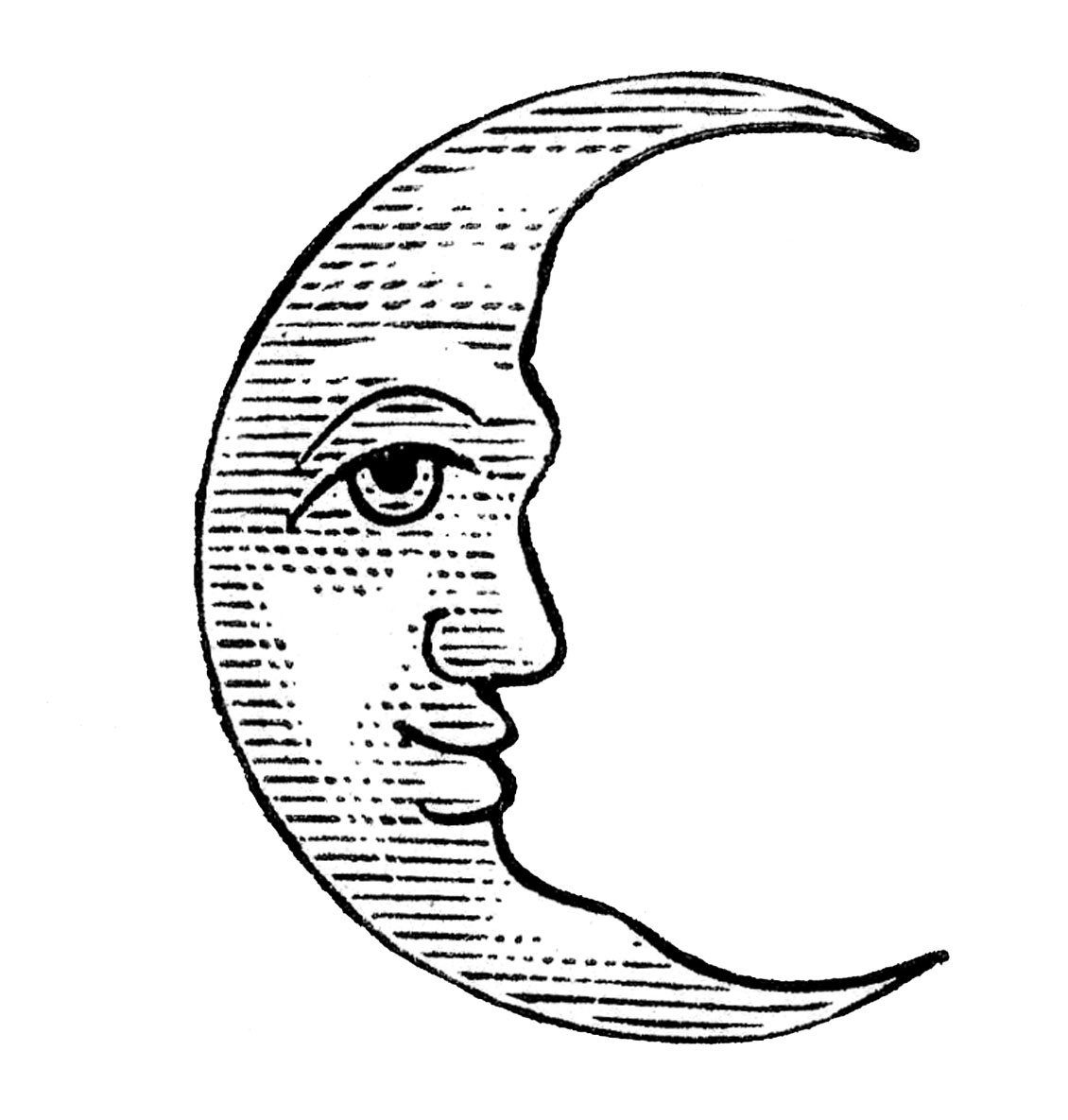 Moon Clipart Black And White | Clipart Panda - Free ...