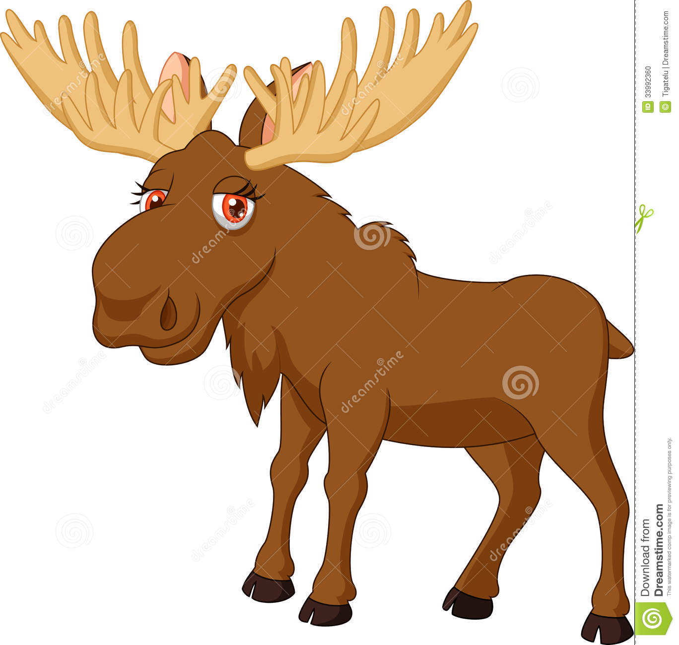 Moose Clipart Black An...