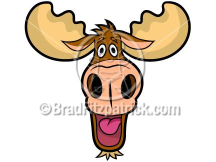 Moose face cartoon - photo#19