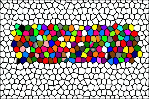 Mosaic Clipart Panda