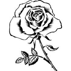 Цветы чб рисунок 7