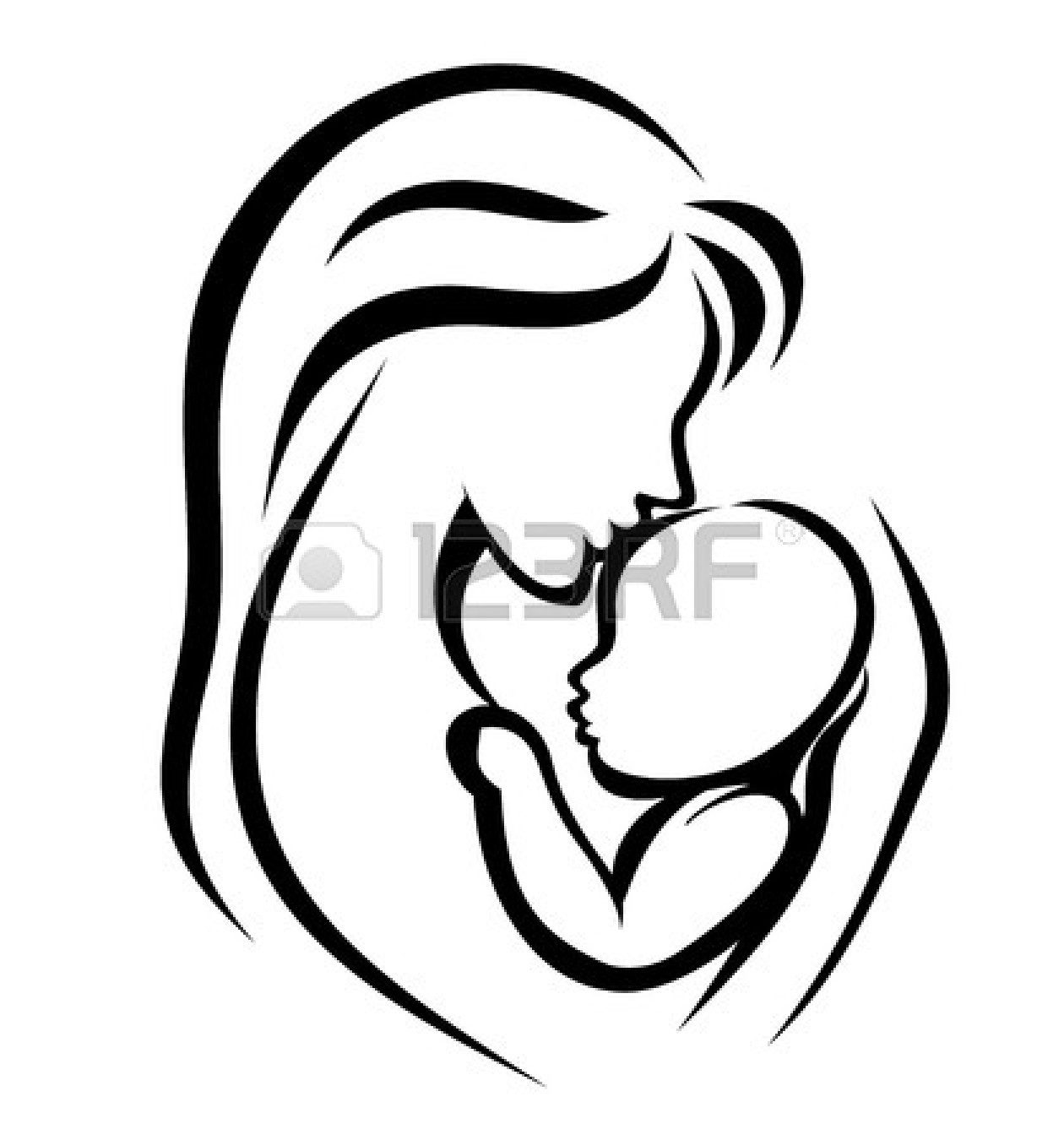 Mother and baby clipart clipart panda free clipart images - Stencil motivo giraffa ...