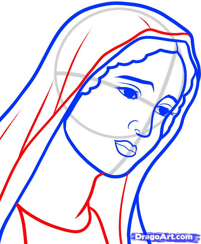 Line Drawing Virgin Mary : Mother and baby line drawing clipart panda free