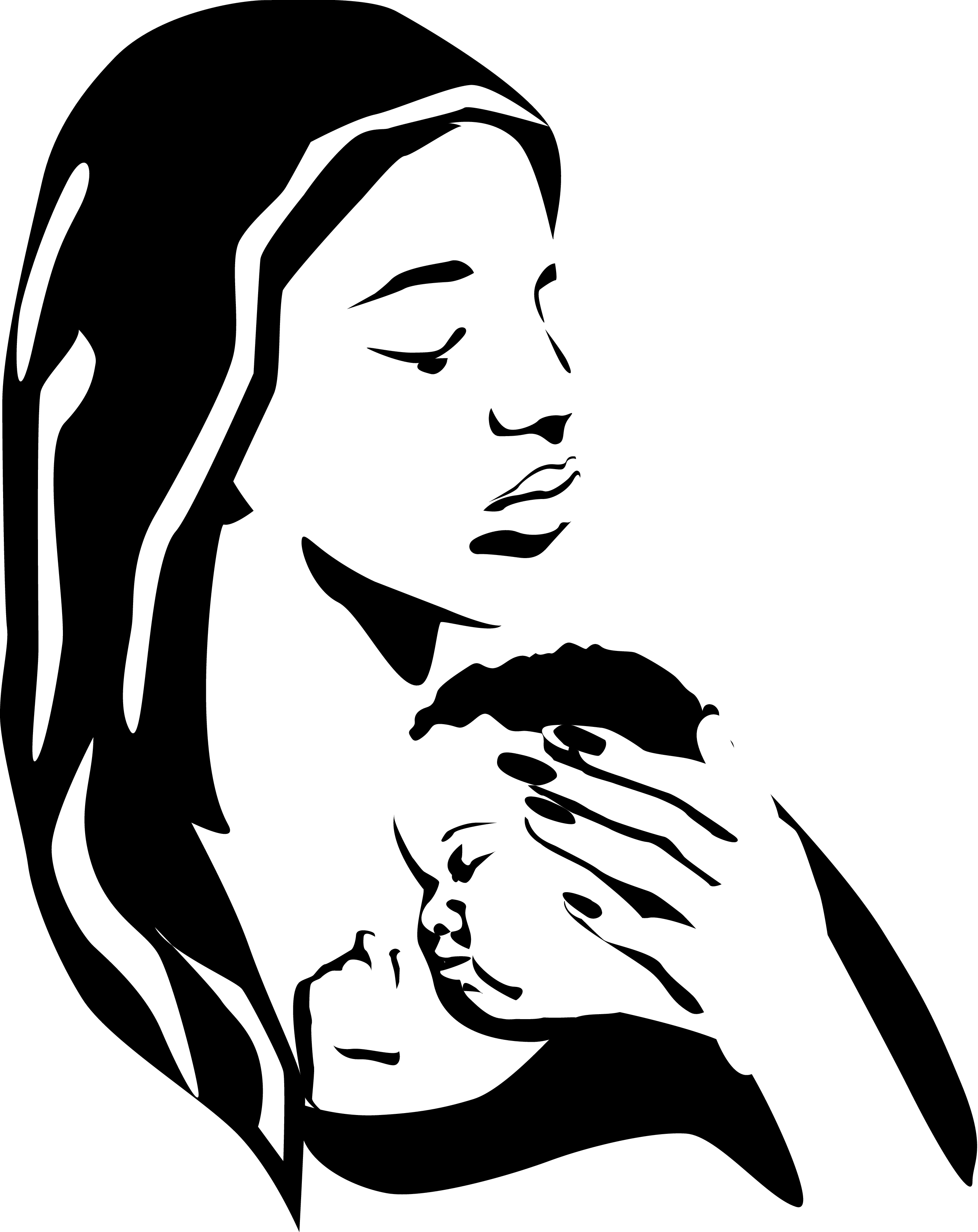 Mother Holding Baby Vector Art Download Holding Vectors ...