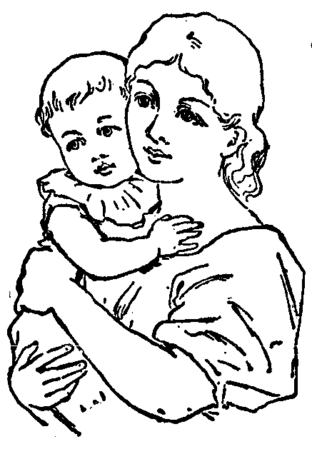 Line Drawing Baby : Gallery mothers drawing