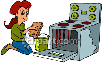 Mother Cleaning Clipart