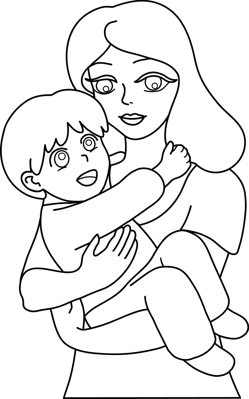 Mother Black And White Clipart | Clipart Panda - Free ...
