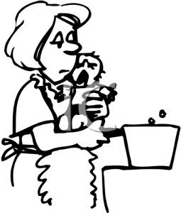 mother%20holding%20baby%20clipart