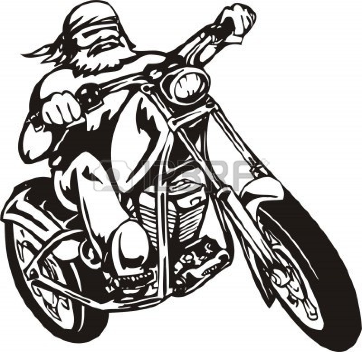 motorcycle clipart vector - photo #12