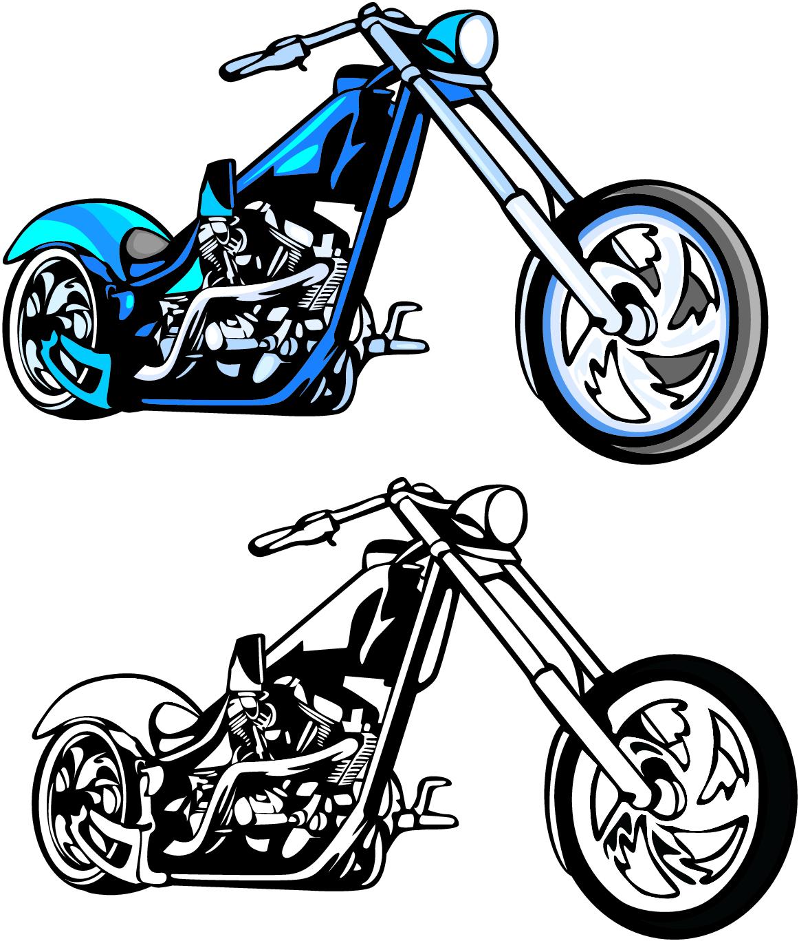 Free Clip Art Motorcycle Chopper