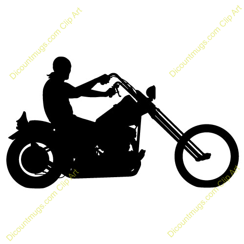 Man riding motorcycle clip art free