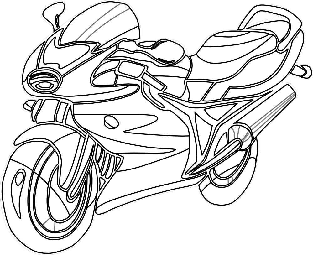 Motorcycle Clipart Black And White | Clipart Panda - Free Clipart ... for Bicycle Clipart Black And White  59nar