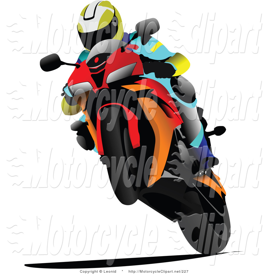 motorcycle-clipart-transportation-clipart-of-a-person-racing-an-orange ...