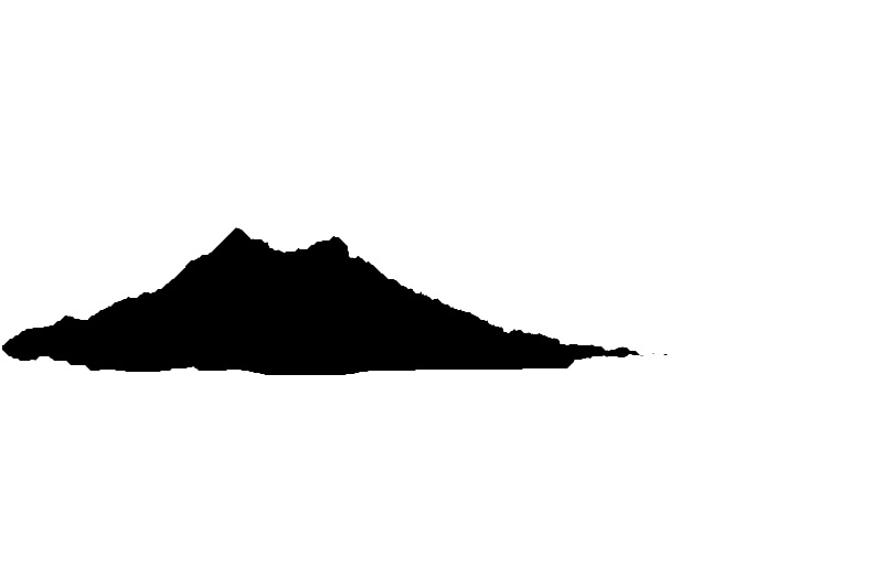 the mountains in focus Mountain Landscape Outline