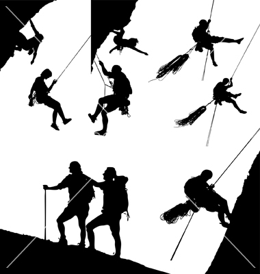 Images Of Canyoning Mountain Climbing Silhouettes