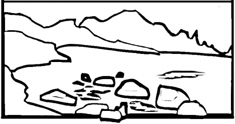 Hexaflexagon colouring pages page 2 - Mountain Drawing Color Rocky Mountain Coloring Page Jpg