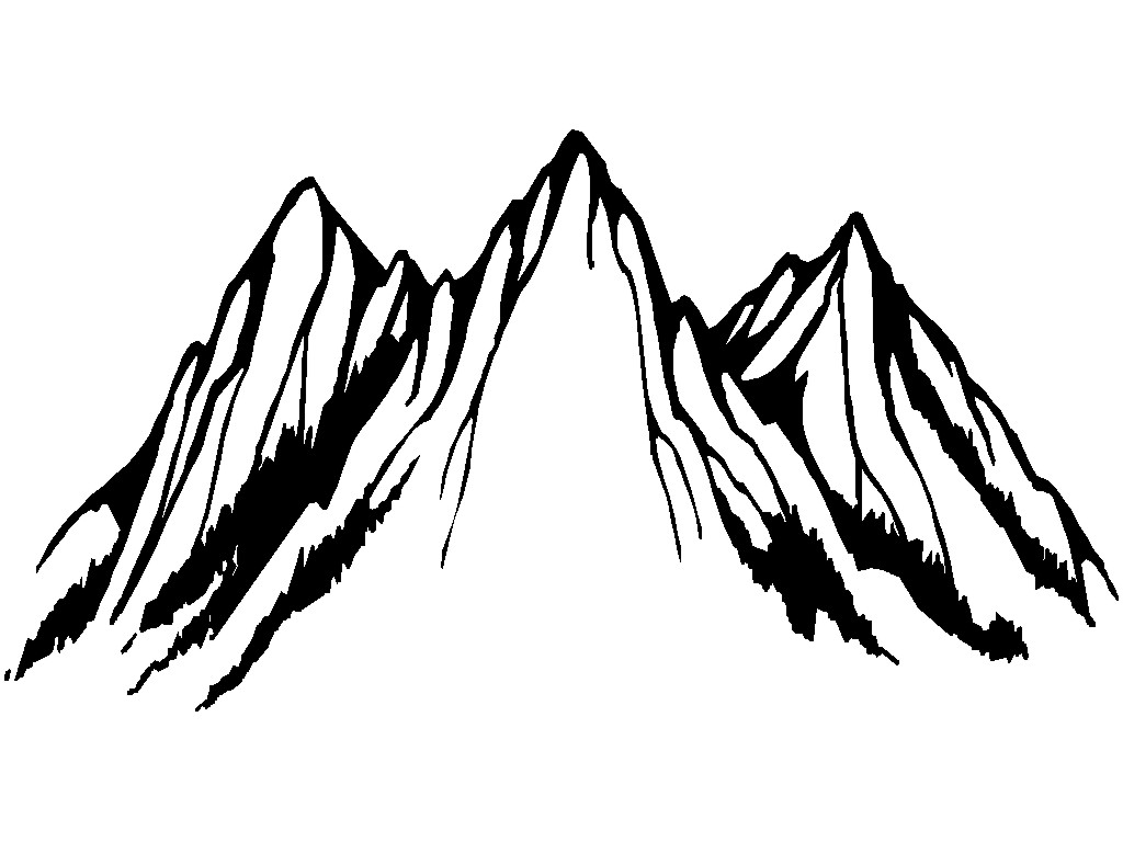 Mountain peak logo clipart panda free clipart images Mountain silhouette
