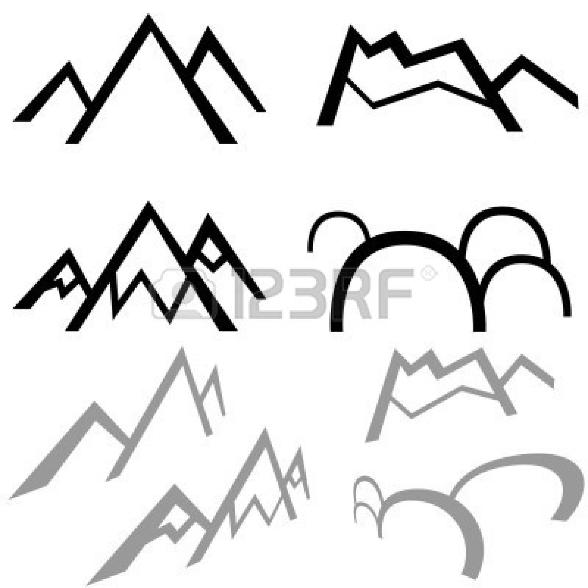 Mountain silhouette drawing the image Mountain silhouette