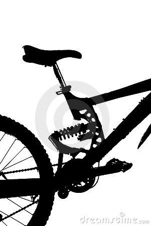 Fully Mountain Bike Silhouette