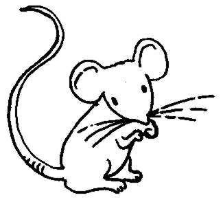 mice clipart black and white