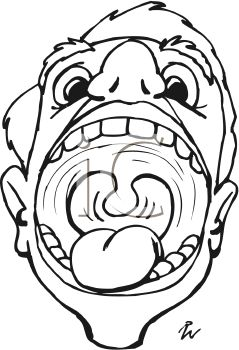 Open Mouth Clipart Black And White | www.pixshark.com ...