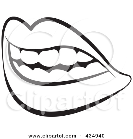 mouth%20and%20tongue%20clipart%20black%20and%20white