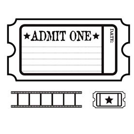Movie Ticket Clipart on oscar party invitation 2017