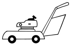 Lawn Mower Clipart Black And White on john deere zero turn mowers