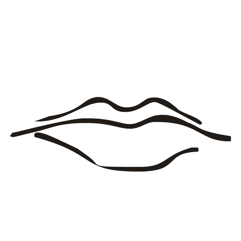 Line Drawing Quiet : Quiet lips clipart panda free images