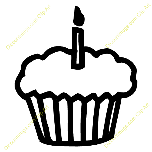 Muffin Birthday Cake | Clipart Panda - Free Clipart Images