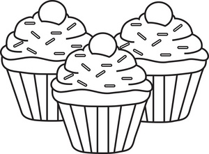 Muffin Clipart Black And White | Clipart Panda - Free ...