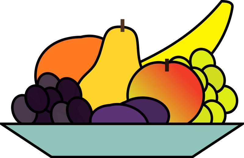 Fruit-clip-art-09  MultiFruits Basket Clipart