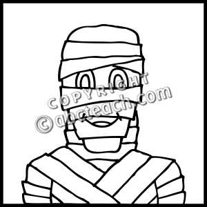 Mummy clipart clipart panda free clipart images for Mummy coloring pages halloween