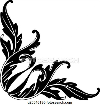 Black And White Christmas Designs Clip Art